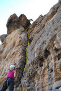 Rock Climbing Photo: Beta showing the route. Myself at the top and my G...