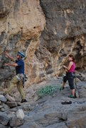 "Rock Climbing Photo: Me climbing the route. I would name this ""Han..."