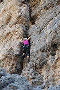 Rock Climbing Photo: Me climbing the route.