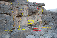 Rock Climbing Photo: First few route at the entrance on the left side.