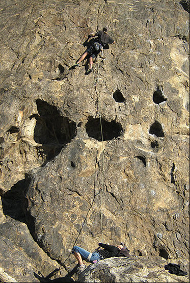 "Rock Climbing Photo: E on ""Good To Be Awake"". Photo by Blitzo..."