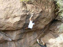 Rock Climbing Photo: Me mid Dyno.