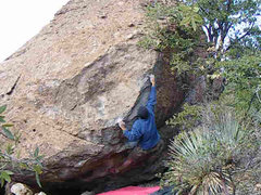 Rock Climbing Photo: Me on DJ's Arete.