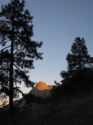 Rock Climbing Photo: Last rays of the November sun illuminates Sugarloa...