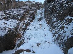 Rock Climbing Photo: Ribbon, 2nd pitch.