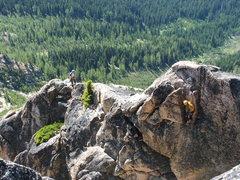 Rock Climbing Photo: Rabbit Ear Rappel