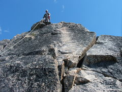 Rock Climbing Photo: Zach on almost the summit