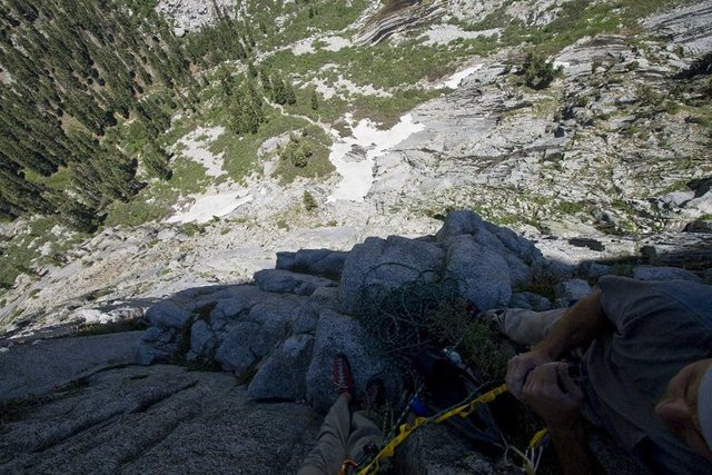 Halfway up the timex route on the watchtower in Sequoia National Park