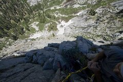 Rock Climbing Photo: Halfway up the timex route on the watchtower in Se...