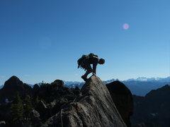 Rock Climbing Photo: Zach on the Hike/Down Climb