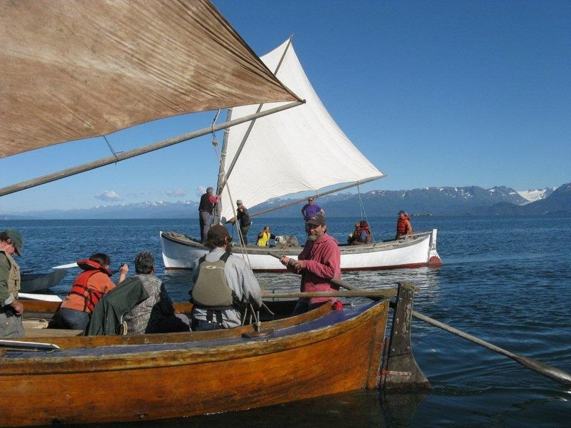 Traditional Bristol Bay Double Enders in Kachemak Bay, AK