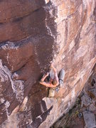 Rock Climbing Photo: Dave M. onsighting Black & Tan.