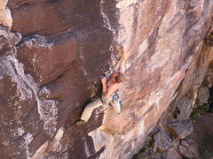 Rock Climbing Photo: Crimping through the middle section.