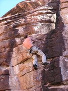 Rock Climbing Photo: Nice holds, but steeper than it first appears.