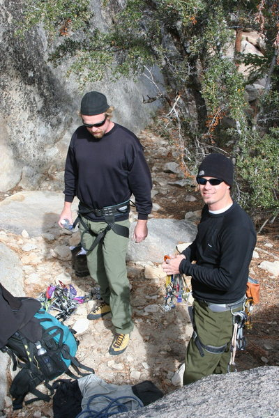 Rock Climbing Photo: Getting ready to lead a 5.7 crack on Motherload.