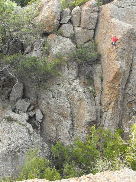 Rock Climbing Photo: On the final headwall of Garden of Expectation