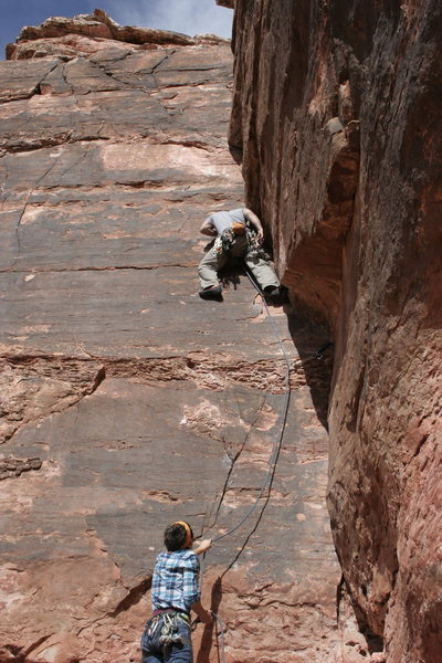 Rock Climbing Photo: Leading Valentine's Day