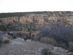 Rock Climbing Photo: The Bright Angel Walls are located along the top l...