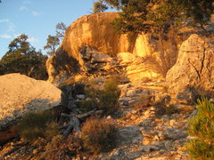 Rock Climbing Photo: A little west facing bouldering cave located on th...