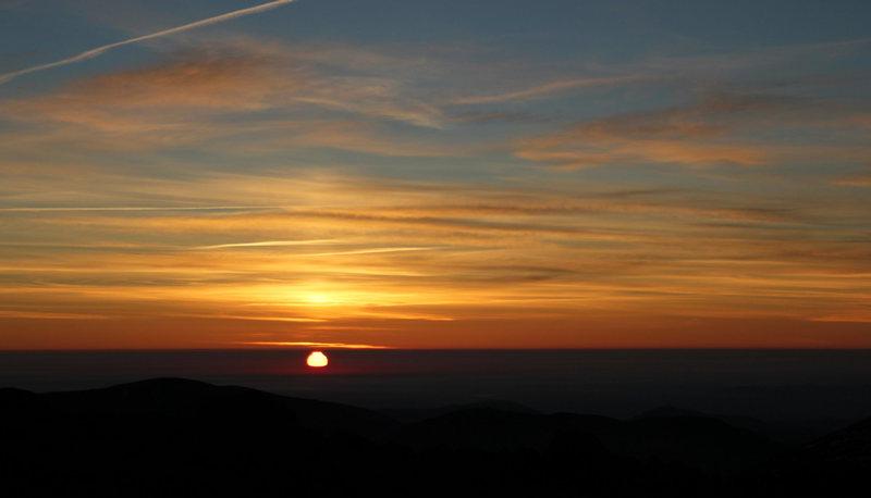 Sunrise in the Presidential Range. Nov. 14, 2010.