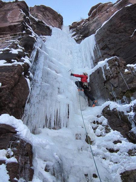 Rock Climbing Photo: Upper curtain pitch.