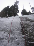 Rock Climbing Photo: Early season conditions as seen on 11/13/2010 - th...