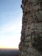 Rock Climbing Photo: Climber at the hanging belay.