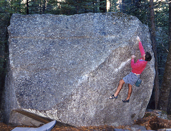 Rock Climbing Photo: Rick Cashner at Cathedral Boulders. Photo by Blitz...