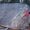 Rick Cashner at Cathedral Boulders.<br> Photo by Blitzo.