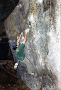 Rock Climbing Photo: Coiler at Cathedral Boulders. Photo by Blitzo.