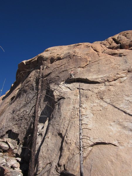 Rock Climbing Photo: On the crux headwall.
