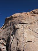 Rock Climbing Photo: On the crux headwall.