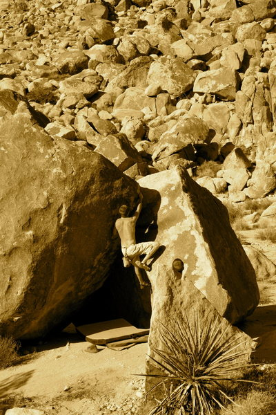 Rock Climbing Photo: tush