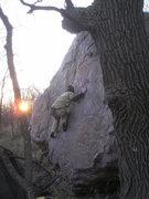 Rock Climbing Photo: Sam walking up Bessie
