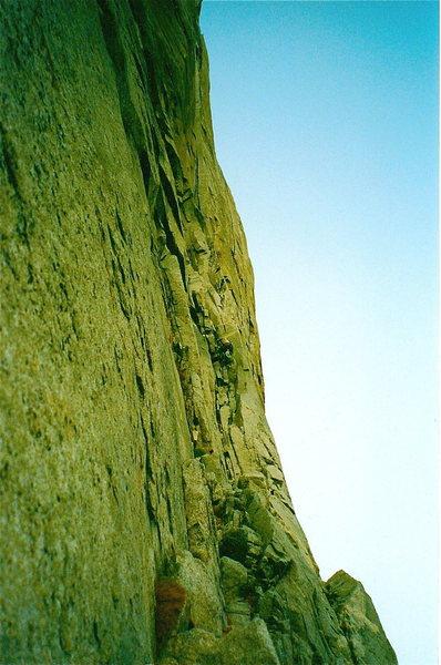 Rock Climbing Photo: stove leg cracks el cap yosemite ca
