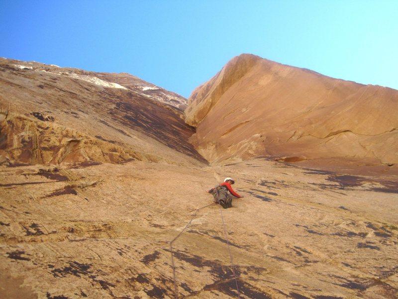 Rock Climbing Photo: Lance on P1
