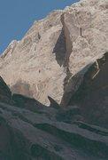 Rock Climbing Photo: Lance nearing the short crack on P2