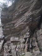 Rock Climbing Photo: The Glory Hole.  Rope is on Skull Fuck.  LAB/Massa...