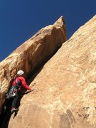 Rock Climbing Photo: Paul stating up the final pitch..at last a pitch f...