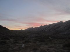 Rock Climbing Photo: Dusk at the Spotted Wolf camp. Time for home....