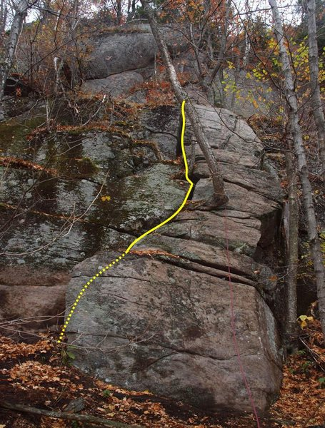 Rock Climbing Photo: Spiral Staircase Stairway to Heaven ascends the fa...