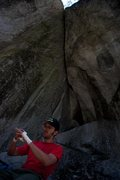 Rock Climbing Photo: Getting ready...  Photo credit: Eric Bissell