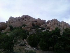 Rock Climbing Photo: The west side of the main formation @ 3 Peaks.  Ca...