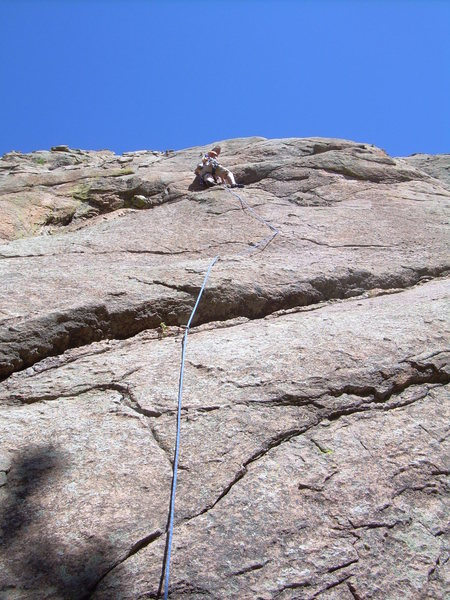 Rock Climbing Photo: Safely through the crux!