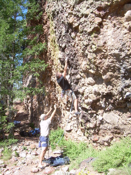 Rock Climbing Photo: You have to want the 1st bolt!