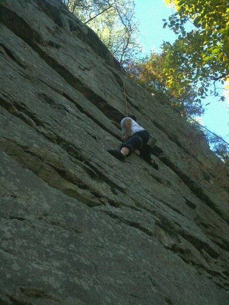 Pulling on an undercling.