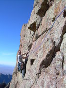 Rock Climbing Photo: Trying to get back on route after a couple of pitc...
