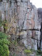 Rock Climbing Photo: Base of Out of Tolerance  Climb where 2 vertical c...
