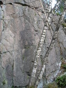 Rock Climbing Photo: Another Mystery bottom view, route starts just lef...