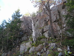 "Rock Climbing Photo: Same ""upstairs gully"", short route devel..."